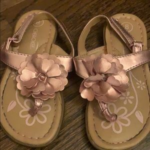 Pink flower Cherokee sandals size 8